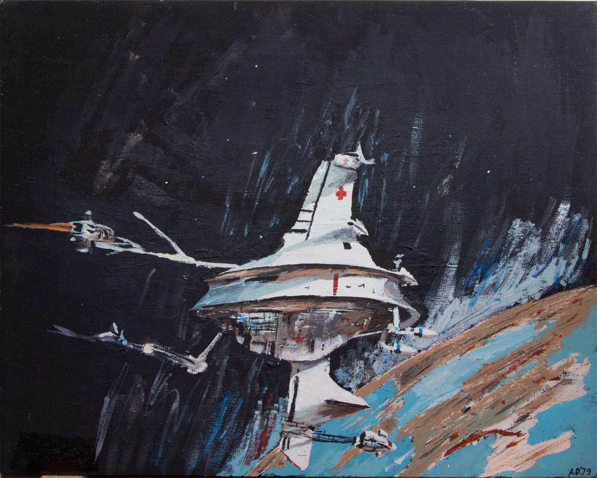 "My version of John Berkey painting of ""Sector General"""